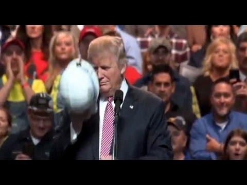Donald Trump Rally in Charleston, West Virginia (5-5-16) I like hard hats! Coal Association.