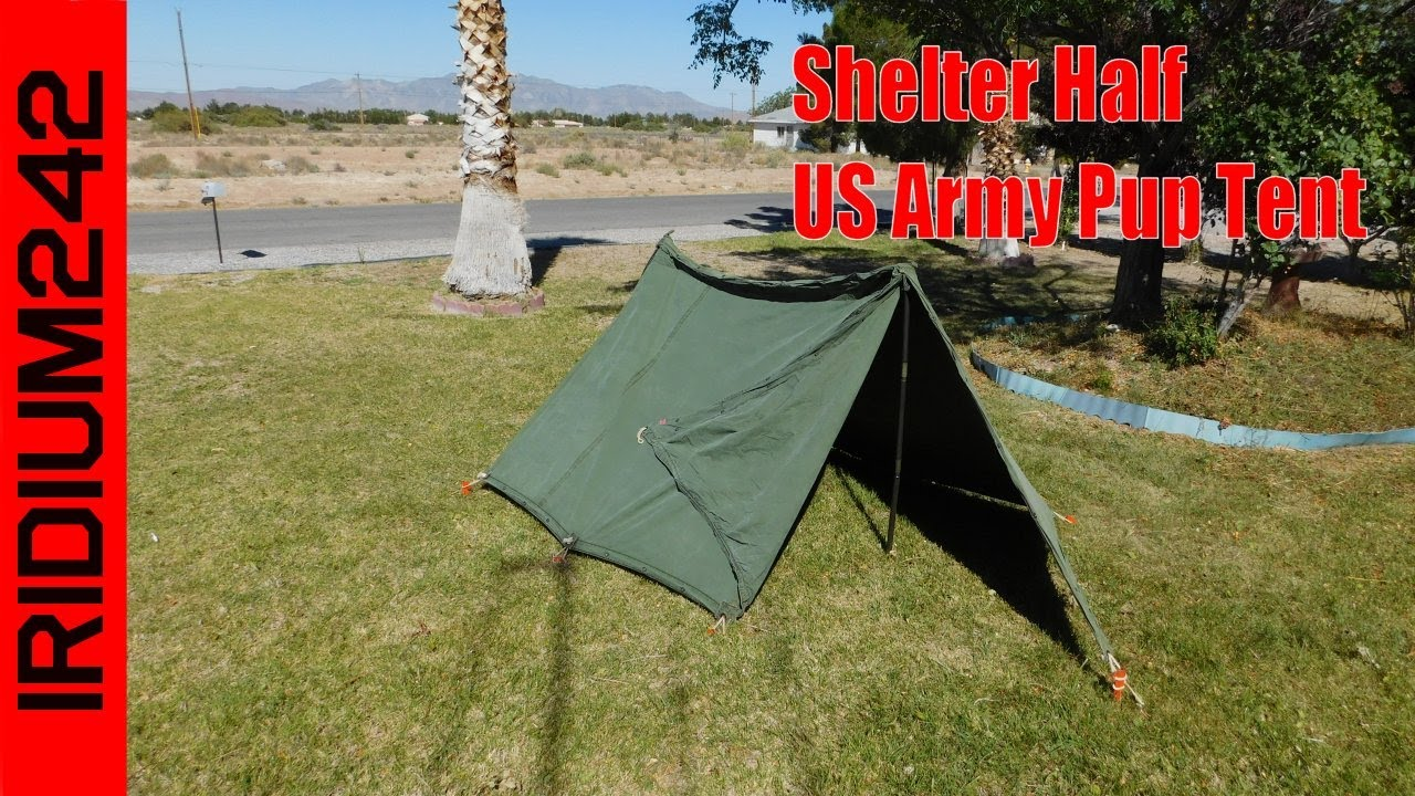 Shelter Half US Army Pup Tent & Shelter Half: US Army Pup Tent - YouTube