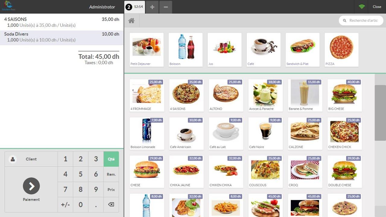 Superbe Logiciel De Gestion Restaurant Café Snack (Solutions OUZZ)