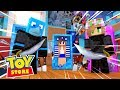 Minecraft TOY STORE - THE LEGO NINJAGO TAKES OVER THE STORE !!1 w/ Sharky and Little Kelly