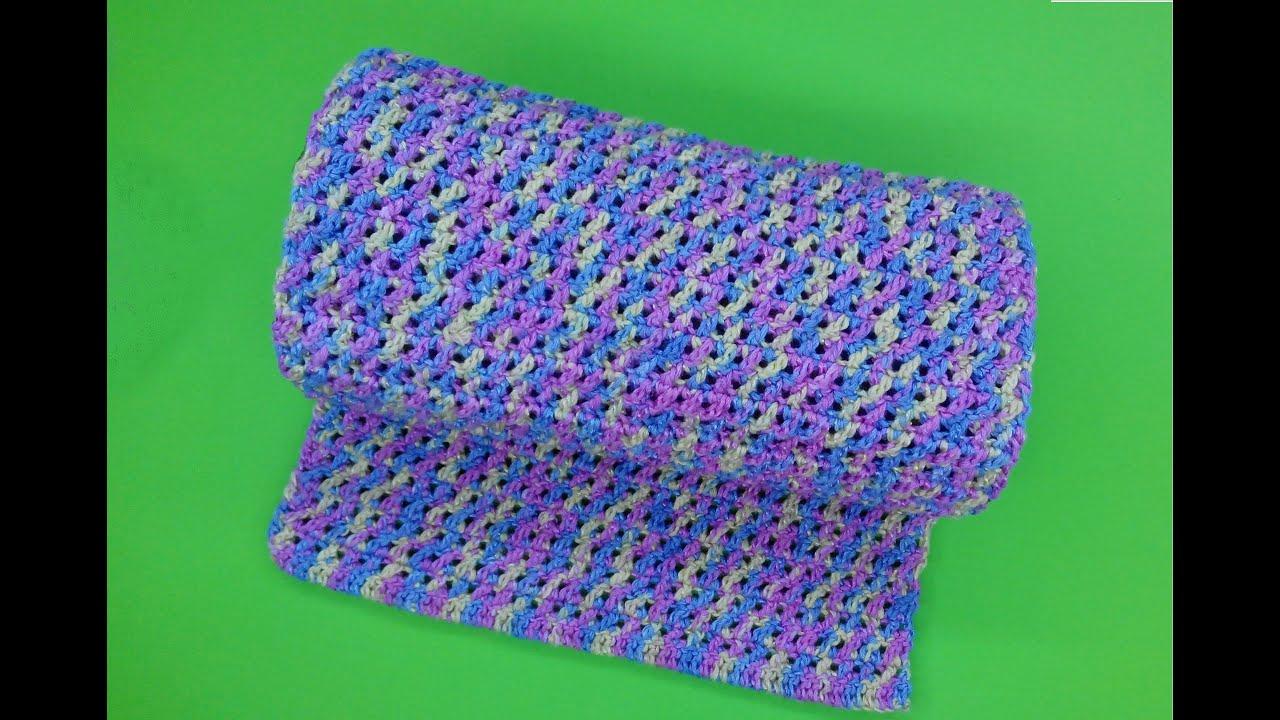 шарф крючком на зиму схема