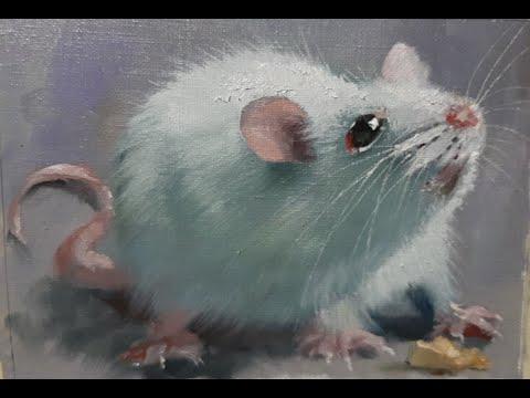 Рисуем белую крысу .Мастер-классы Вугара Мамедова
