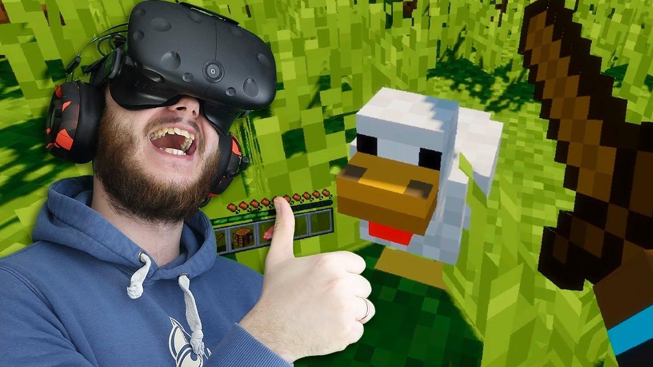 КАК ВЫЖИТЬ В МАЙНКРАФТЕ НА МАКСИМАЛКАХ В ВИРТУАЛЬНОЙ РЕАЛЬНОСТИ! - Minecraft VR - HTC Vive ВР