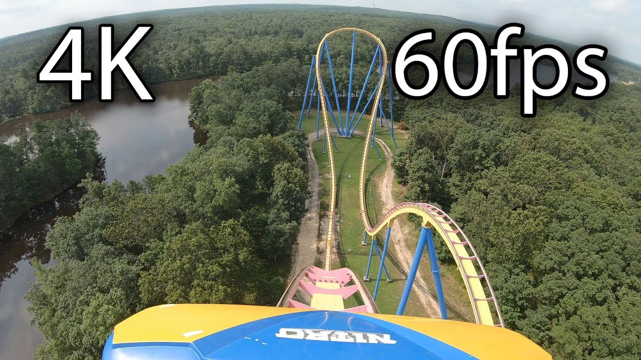 Nitro Front Seat On Ride 4k Pov 60fps Six Flags Great Adventure Youtube