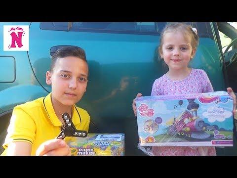Посылка с игрушками Крутые СПИННЕРЫ Fidget SPINNER и поезд МАЙ ЛИТЛ ПОНИ много игрушек Box with toys
