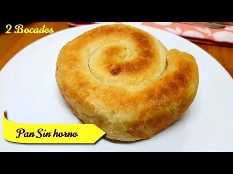 PAN SIN HORNO - Receta de Pan RELLENO Hecho En Sartén, Fácil y Delicioso