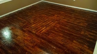 Painted Plywood Floors - Boat Deck 04 - Applying the Wood Stain