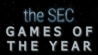 THE SEC GAMES OF THE YEAR COLLEGE FOOTBALL 2019