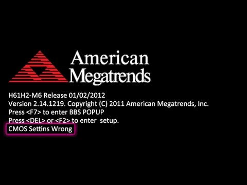 CMOS Settings Wrong Fix In Any Pc or Laptop{UPDATED} 2017 American Megatrends