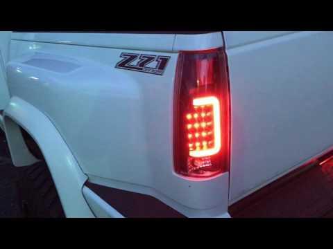 DNA TL-C10-LED-BK-CL For Chevy C//K Series Black Clear Lens LED Tail Light