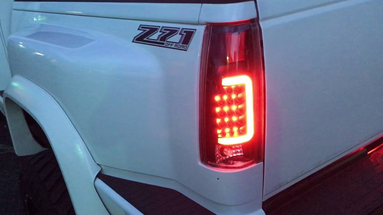 Bad Led Headlights K1500 Led U-bar Tail Lights - Youtube