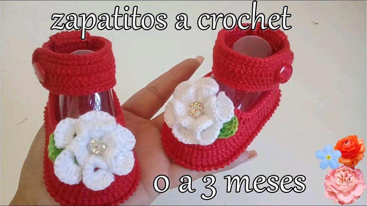 personalizado cápsula Pronombre  Zapatitos tejidos a crochet para bebé || tejido || tutorial || 0 a 3 meses  - YouTube