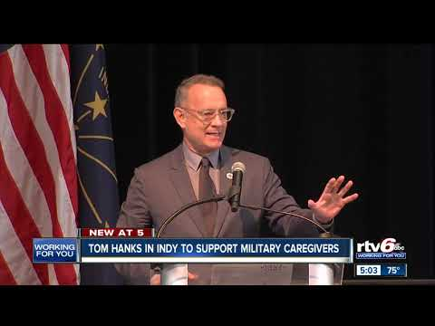 Crystal - WATCH: Tom Hanks, Savannah Gutherie In Indy Shining Light On Vet Caregivers