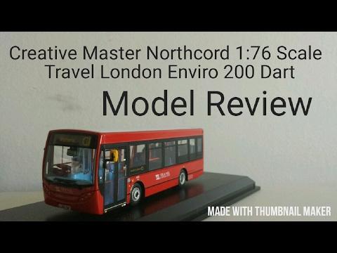 Creative Master 1:76 Travel London Enviro200 Dart (LJ56VSP) Model Review