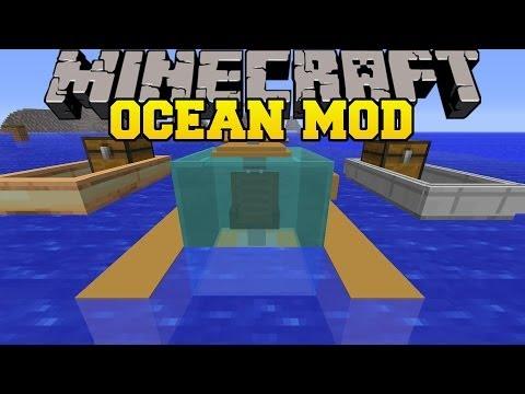 Minecraft: OCEAN MOD (FAST BOATS, SUBMARINES, AND UNDERWATER VILLAGES!) Mod Showcase fragman