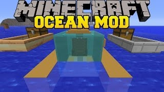 Minecraft: OCEAN MOD (FAST BOATS, SUBMARINES, AND UNDERWATER VILLAGES!) Mod Showcase