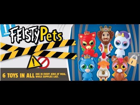 Burger King Halloween Kids Meal Toys 2020 Feisty Pets King Jr. Kids Meal Toys at Burger King for March 2020