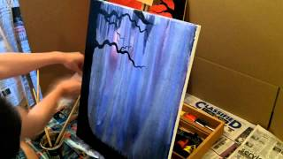 "Acrylic Speed Painting ""Warm Pasts, Cold Futures"""