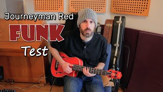 Kala Journeyman Red Bass Ukulele - Funk Demo and Review (no talking)
