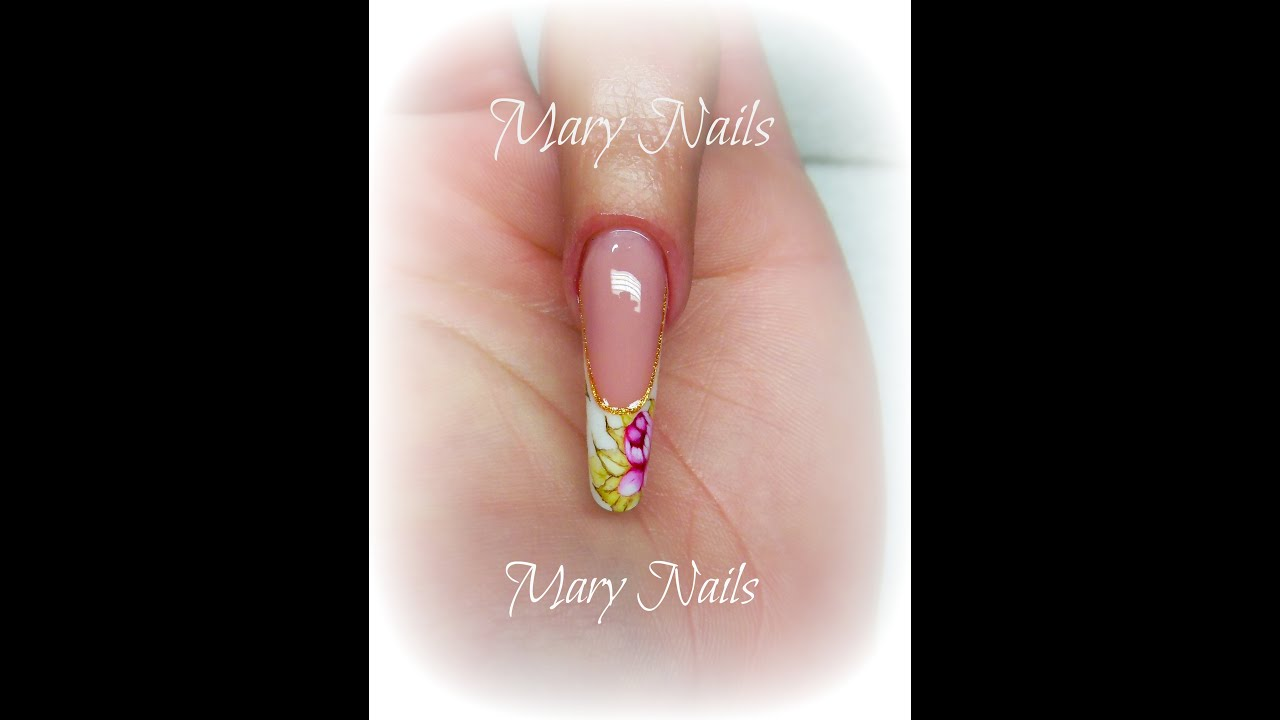 Pink & White con Competition White gel Dea Nails... - YouTube
