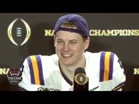 Joe Burrow: National Championship 'was a long time coming' for LSU | College Football on ESPN