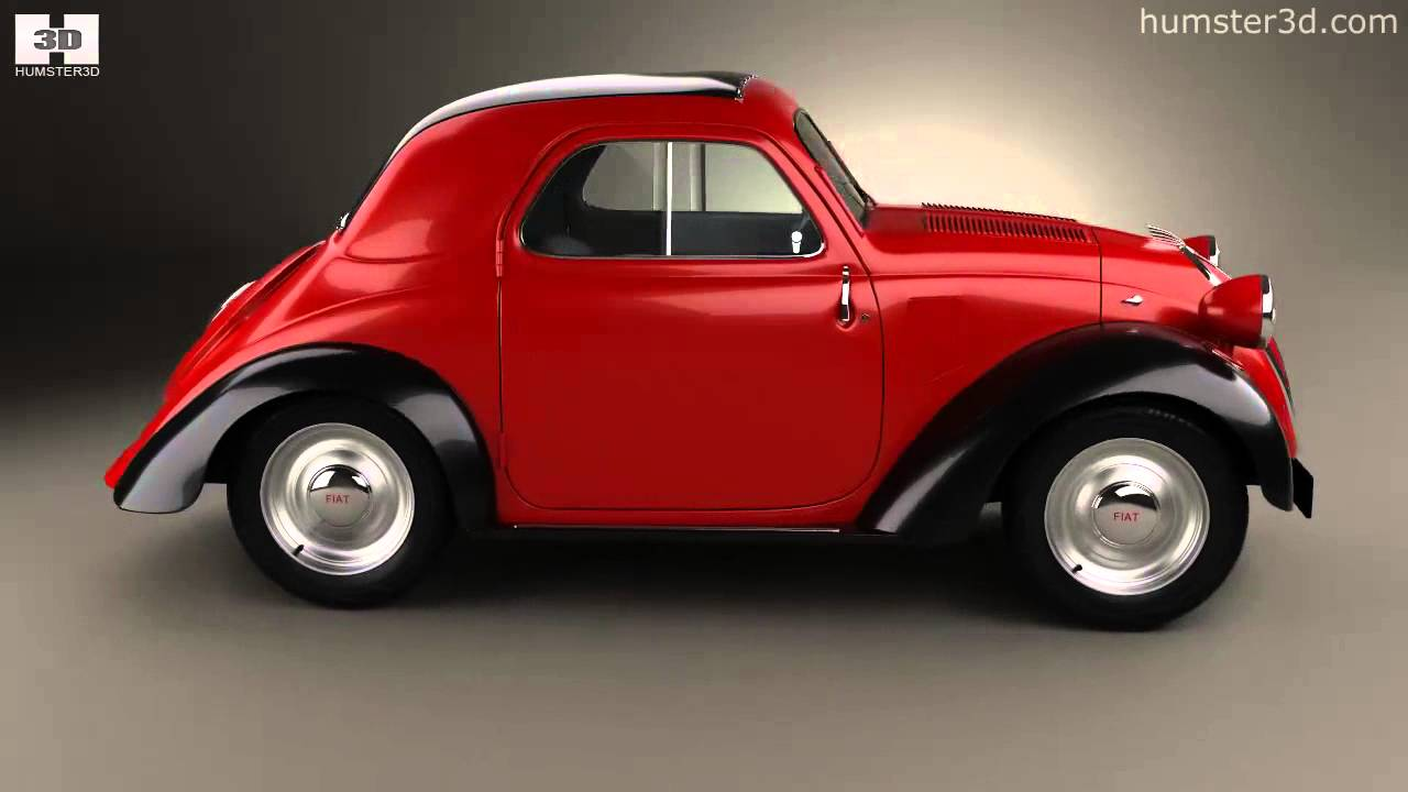 fiat 500 topolino 1936 by 3d model store youtube. Black Bedroom Furniture Sets. Home Design Ideas