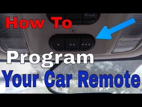 Set-Up Your Car HomeLink To The Garage Door