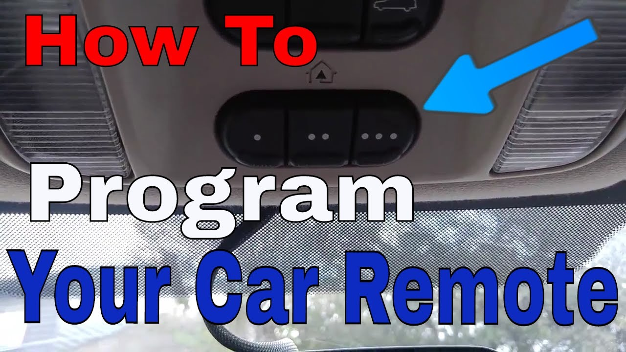 Set Up Your Car Homelink To The Garage Door Youtube