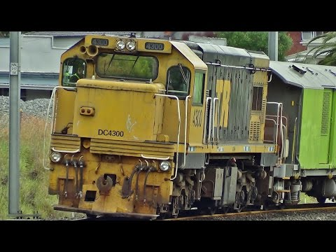 Railway Ballast Cleaner on Work Train Full Length (HD) DC 4300 DC 4346