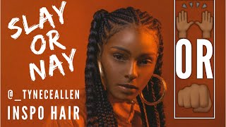 Box Braid + Feed in Ponytails | SLAY OR NAY Mp3