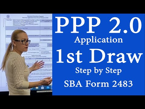 NEW PPP 1st time borrowers loan. PPP loan application form 2483 for first PPP loan. 1st SBA PPP loan