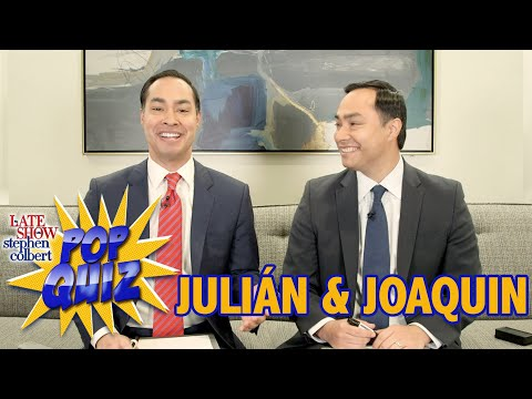 Pop Quiz With Joaquin And Julián Castro