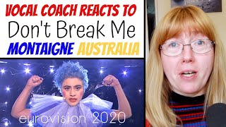 Vocal Coach Reacts to 'Don't break me' Australia Eurovision 2020