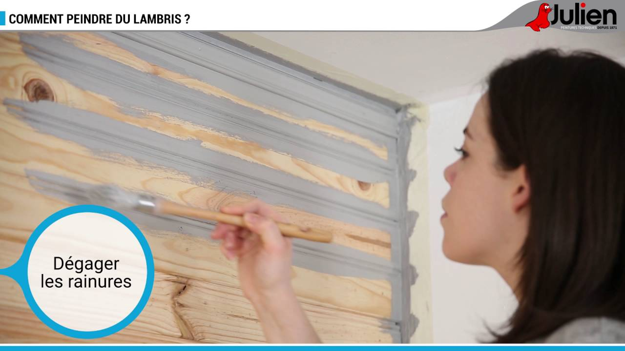 Comment peindre du lambris peintures julien youtube - Comment peindre un plafond en lambris ...