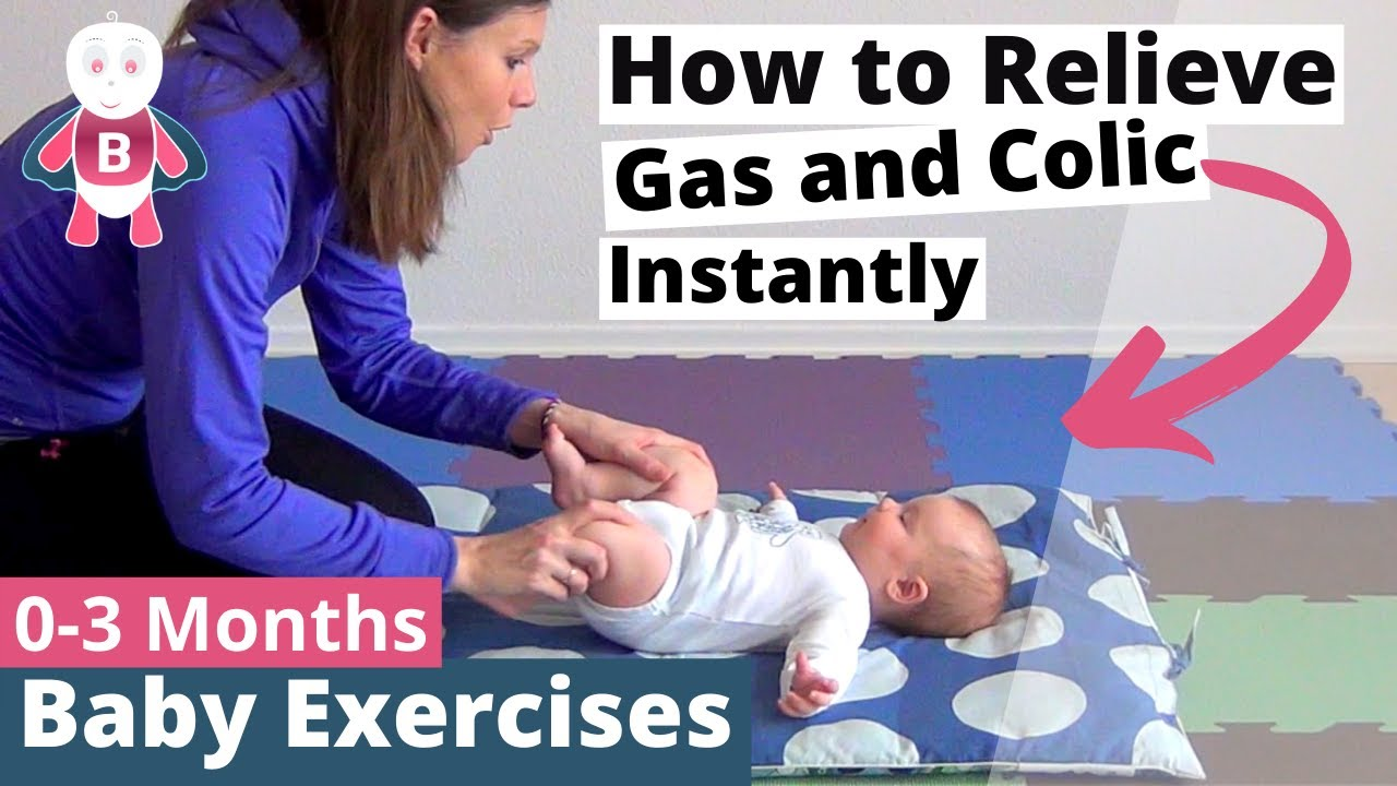 e93545c4a686 Baby Playtime Exercises 👶❤  0-3 Months - Cycling Movements ...