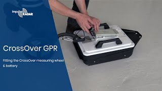 ImpulseRadar   Fitting the CrossOver Measuring Wheel & Battery to the CrossOver GPR antenna. Video