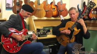 """Gibson 1965 ES-330 and 1956 ES-175 at Gryphon Strings """"Take the Coltrane"""" with John Stowell"""