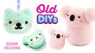 REMAKING OLD DIYs!! Koala Needlefelt ASMR and Mint Bear Sock Plush!