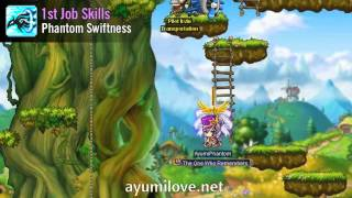 Ayumilove MapleStory Phantom 1st, 2nd, 3rd and 4th Job Skills Videos