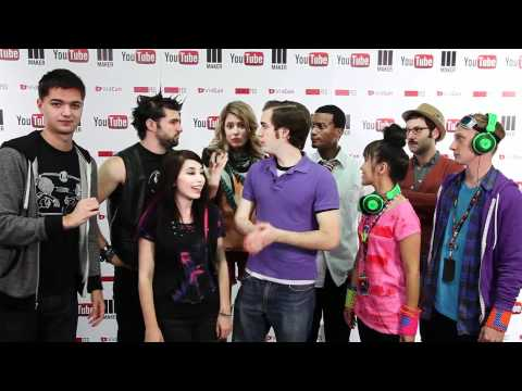 My Music Show backstage at Vidcon 2012