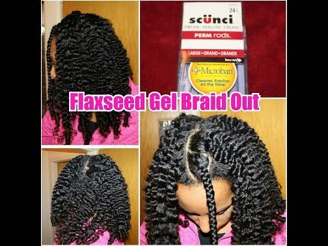 98 my flaxseed gel braid out on naturally curly hair youtube