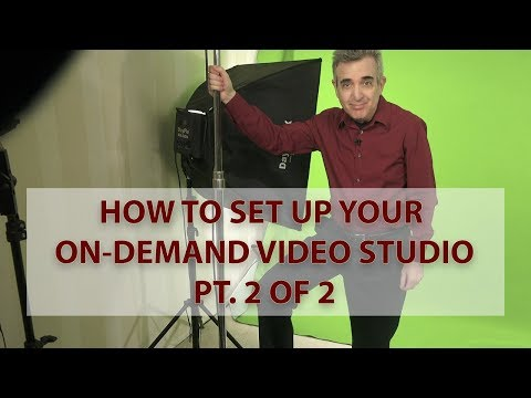 How to Set Up Your On Demand Video Home Studio Pt 2 of 2