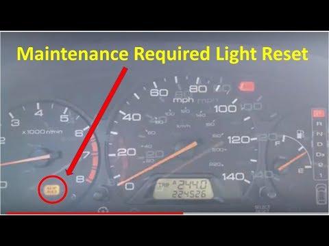 1999-2004 Honda Odyssey - Maintenance Required Light Reset