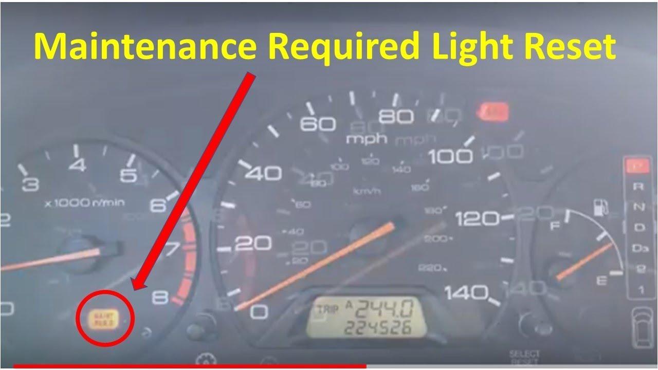 1999 2004 Honda Odyssey Maintenance Required Light Reset