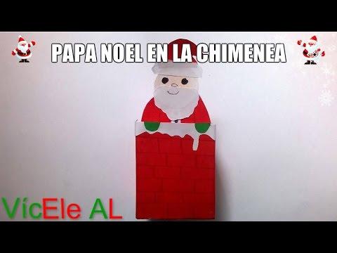 Pap noel en la chimenea manualidades para navidad - Cocinar en la chimenea ...