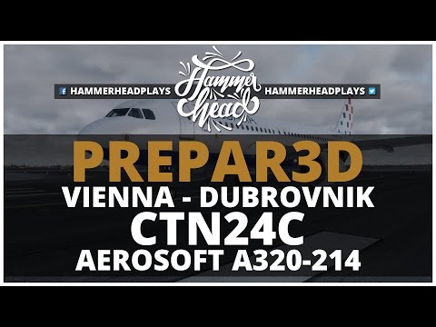 [P3D] Croatia 24C | LOWW (Vienna) - LDDU (Dubrovnik) | Aerosoft A320 | Vatsim
