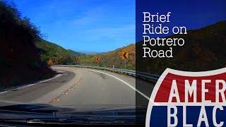 American Blacktop: Brief Ride on Potrero Road from Ventura to Malibu, California