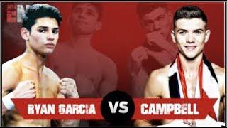 Ryan Garcia Training for Opponent Luke Campbell | ESNEWS BOXING