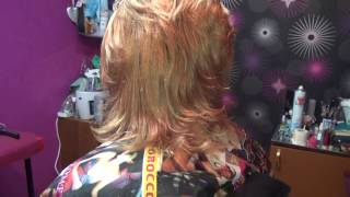 Колорирование волос и простая укладка