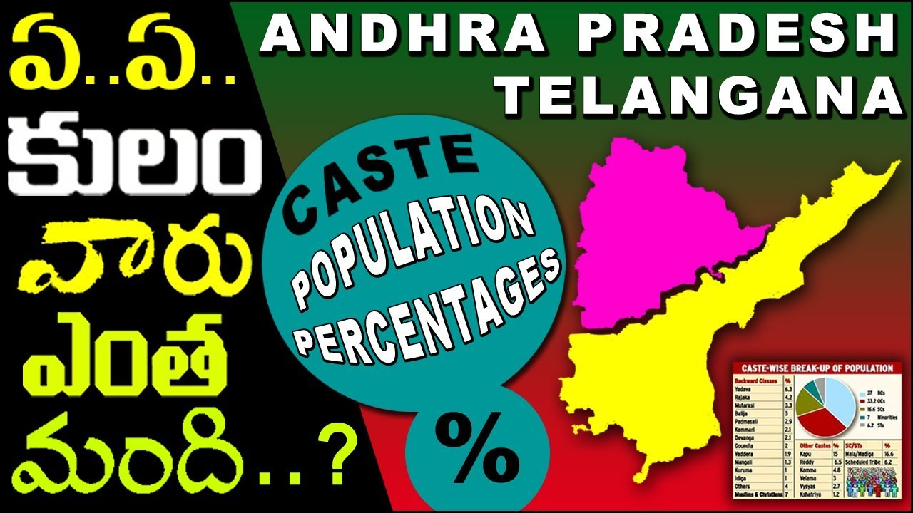 Caste wise population in Andhra Pradesh & Telangana based on several  Internet Sources